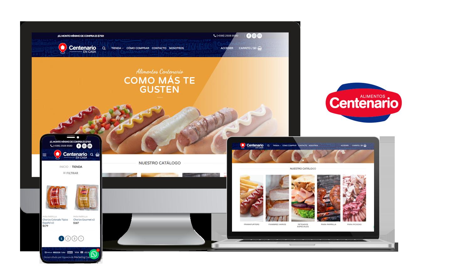 Desarrollo E-Commerce Centenario
