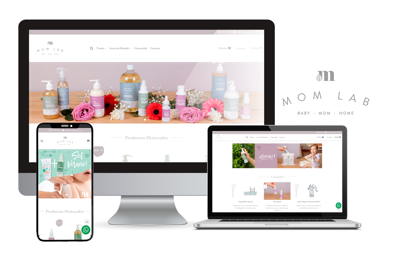 Desarrollo E-Commerce Momlab